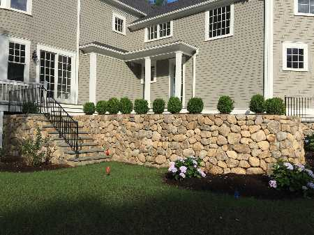 Stone Wall & Bluestone Patio